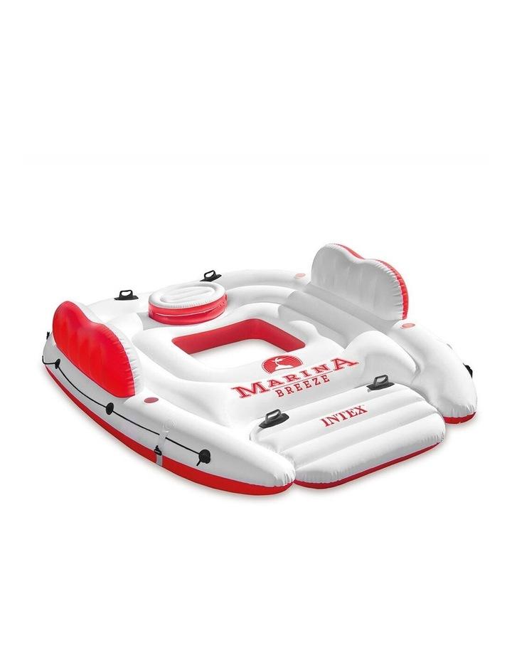 Intex 259cm Marina Breeze Inflatable Island Float Raft Ride On Water River/Pool image 1