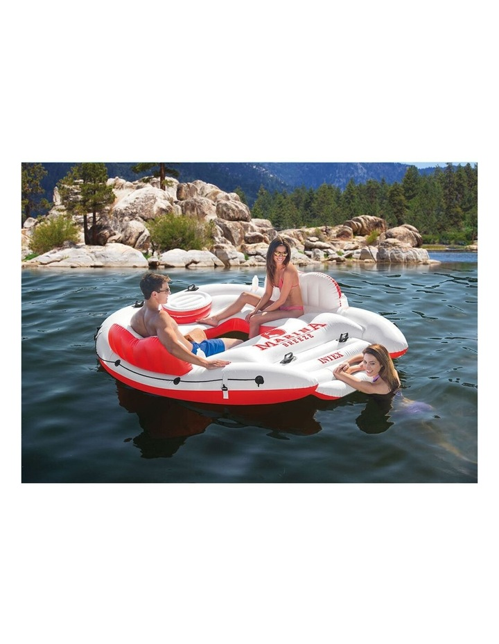 Intex 259cm Marina Breeze Inflatable Island Float Raft Ride On Water River/Pool image 2