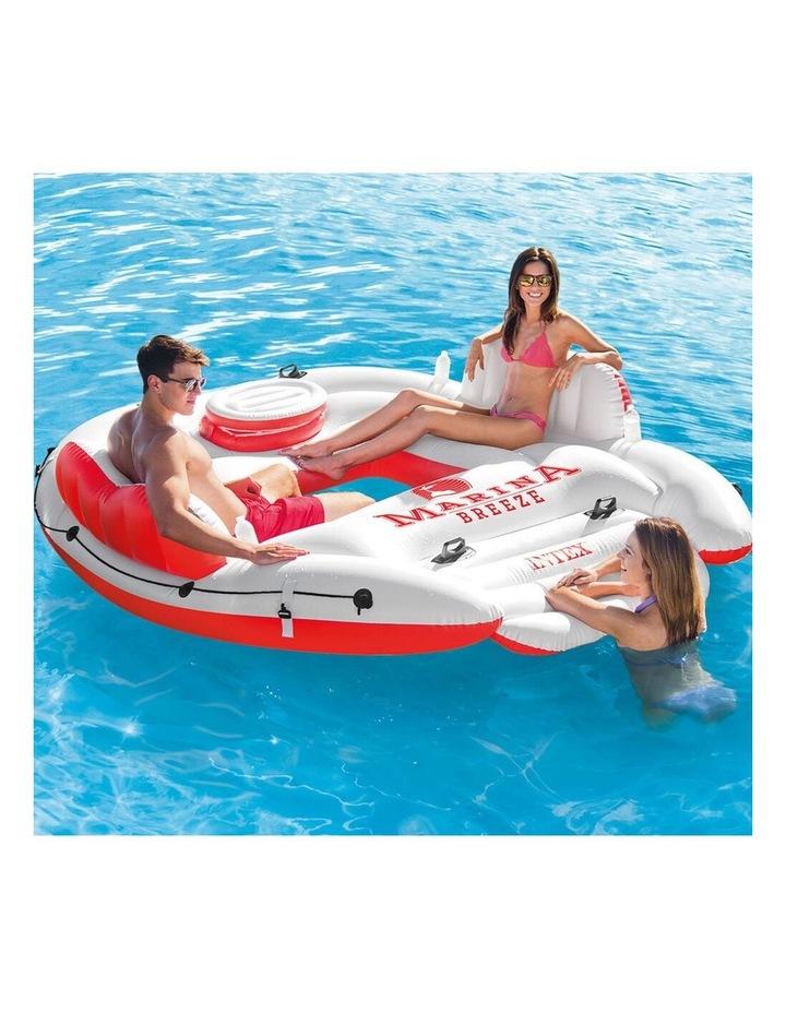 Intex 259cm Marina Breeze Inflatable Island Float Raft Ride On Water River/Pool image 3
