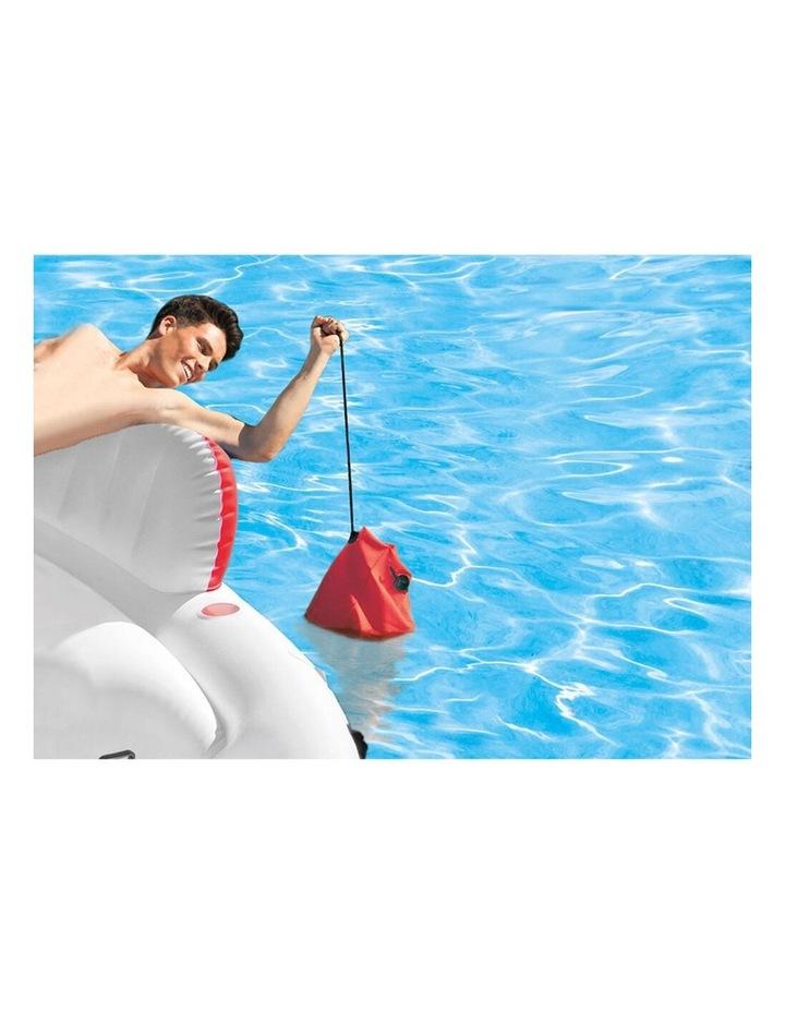Intex 259cm Marina Breeze Inflatable Island Float Raft Ride On Water River/Pool image 4