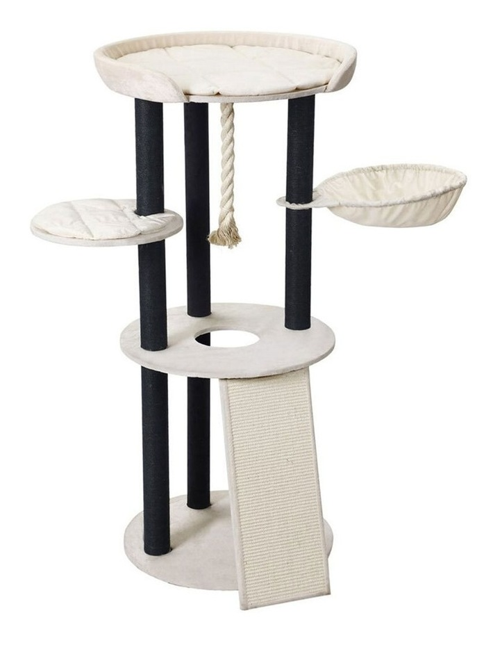 141cm Catsby Hampton Cat Tree Scratching Post Tower Pet Bed image 3