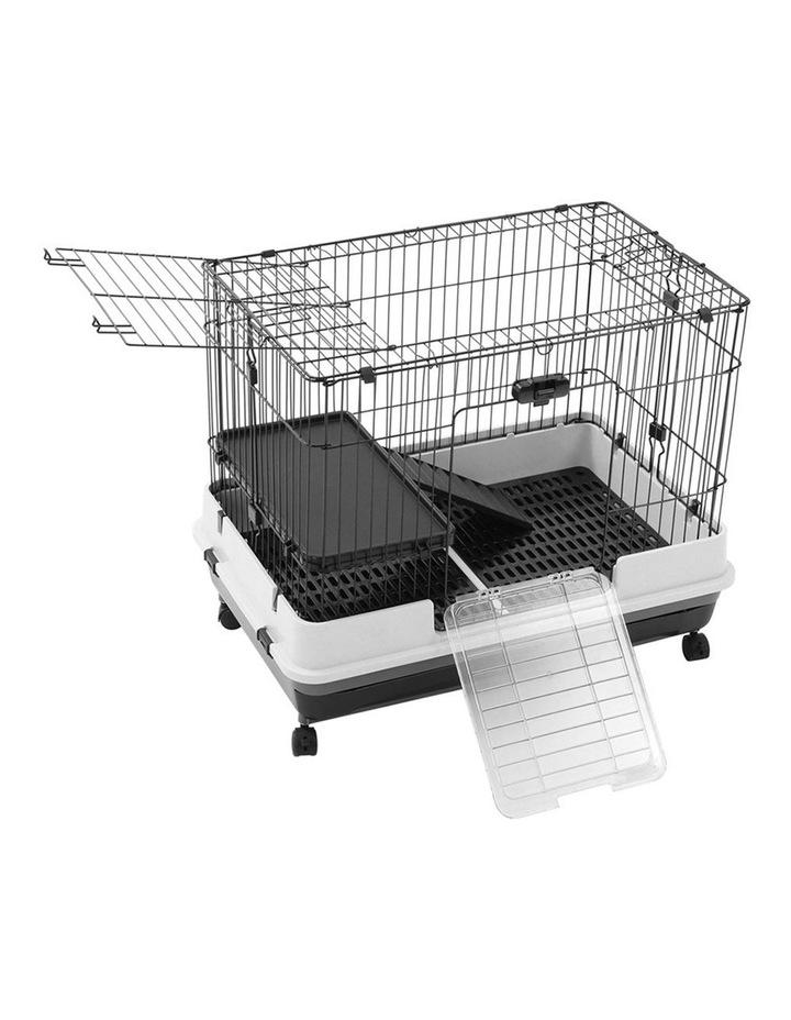 Pet Cage On Wheels 81x66cm Indoor/Outdoor Rabbit Carrier image 1