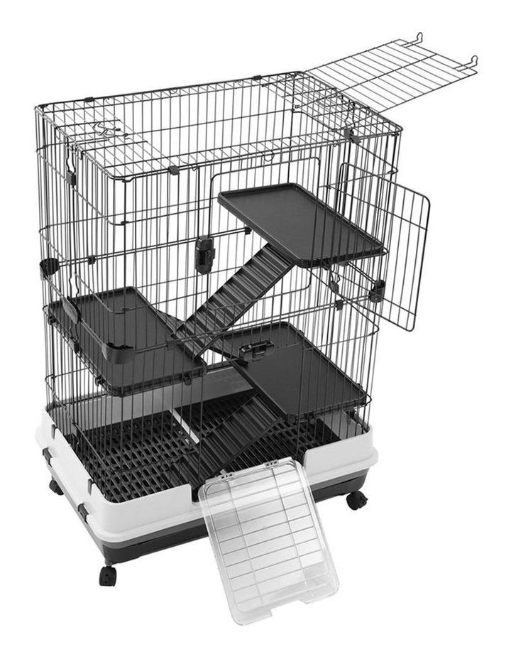 Rabbit/Guinea Pig 2 Tier Pet Cage On Wheels 104x81cm Indoor/Outdoor image 1