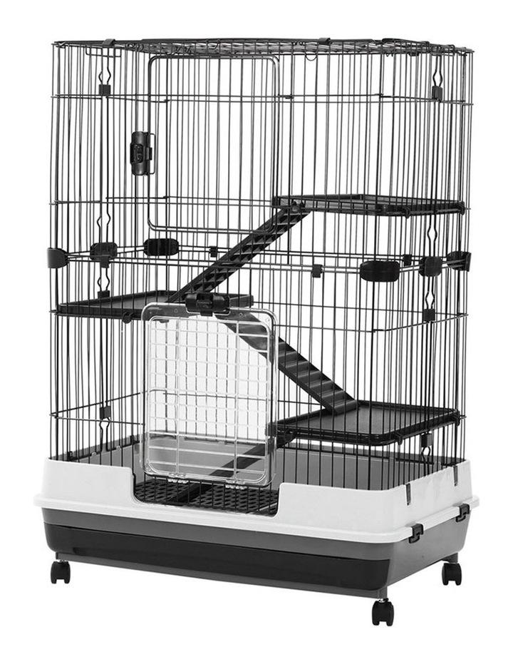 Rabbit/Guinea Pig 2 Tier Pet Cage On Wheels 104x81cm Indoor/Outdoor image 3