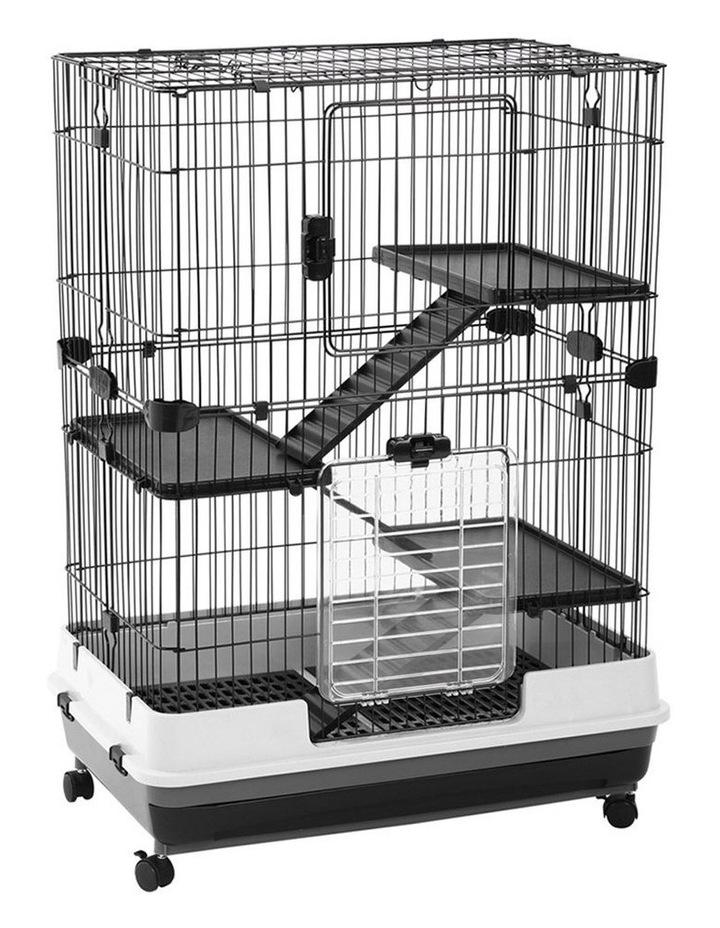 Rabbit/Guinea Pig 2 Tier Pet Cage On Wheels 104x81cm Indoor/Outdoor image 4