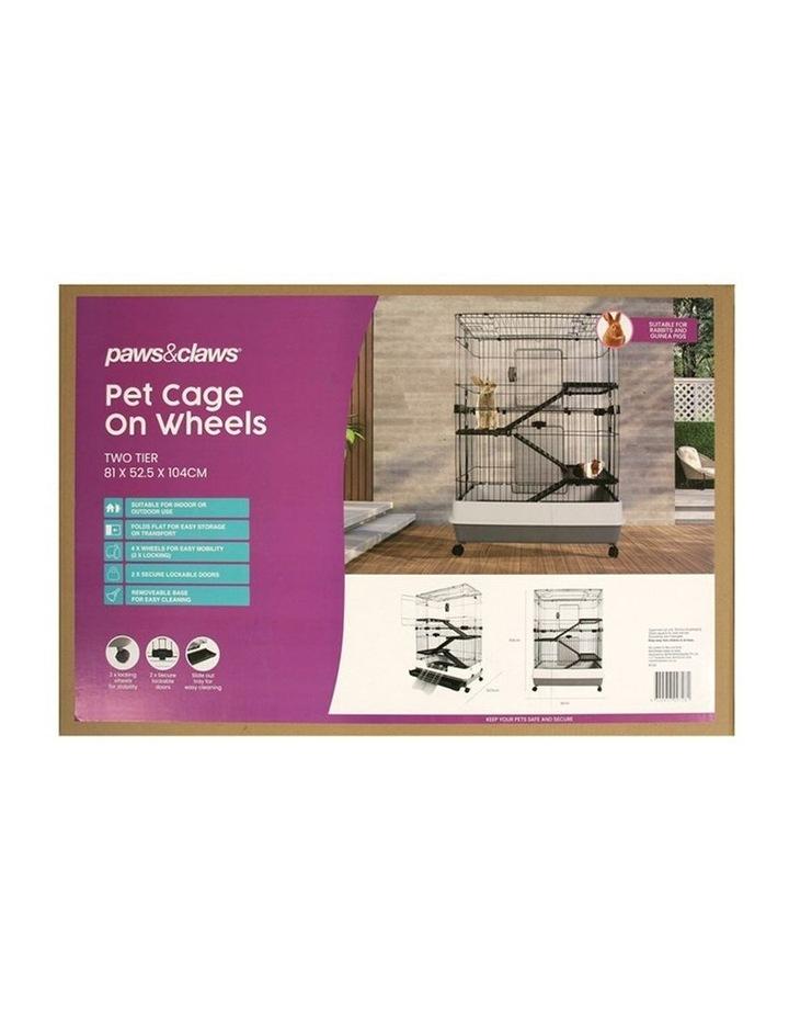 Rabbit/Guinea Pig 2 Tier Pet Cage On Wheels 104x81cm Indoor/Outdoor image 5
