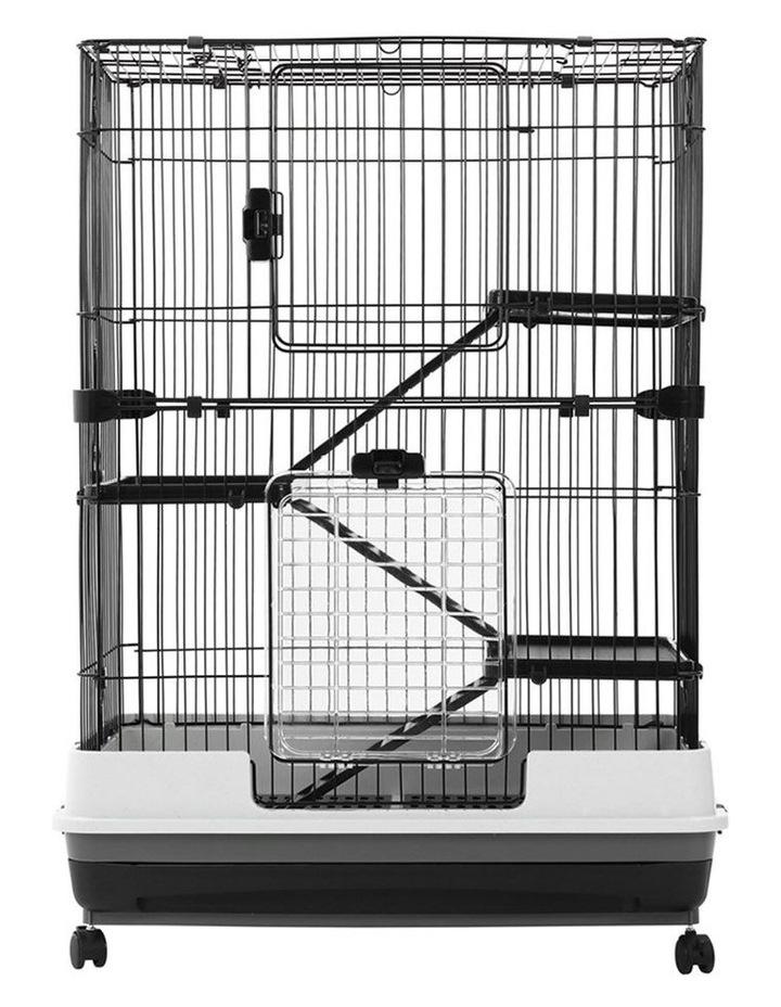 Rabbit/Guinea Pig 2 Tier Pet Cage On Wheels 104x81cm Indoor/Outdoor image 6
