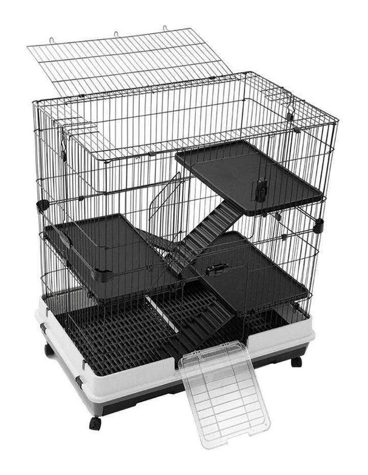 Rabbit/Guinea Pig 2 Tier Pet Cage On Wheel 104x100cm Indoor/Outdoor image 1