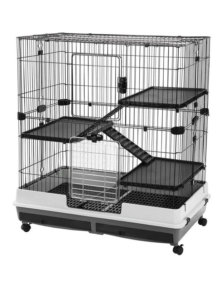 Rabbit/Guinea Pig 2 Tier Pet Cage On Wheel 104x100cm Indoor/Outdoor image 2