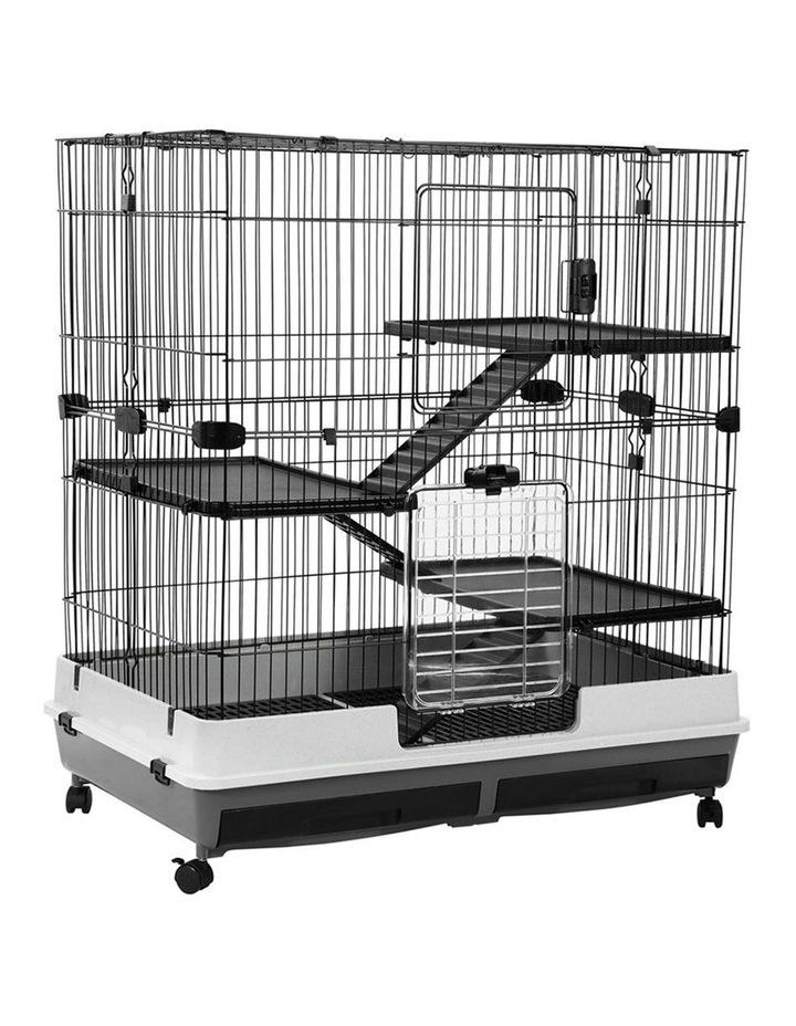Rabbit/Guinea Pig 2 Tier Pet Cage On Wheel 104x100cm Indoor/Outdoor image 3