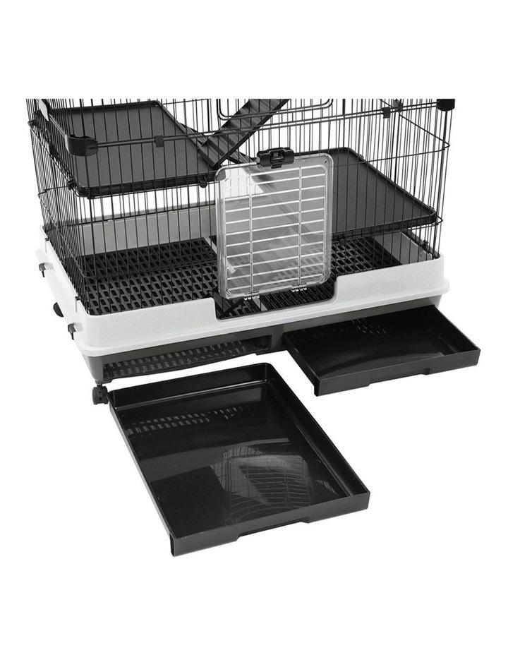 Rabbit/Guinea Pig 2 Tier Pet Cage On Wheel 104x100cm Indoor/Outdoor image 5