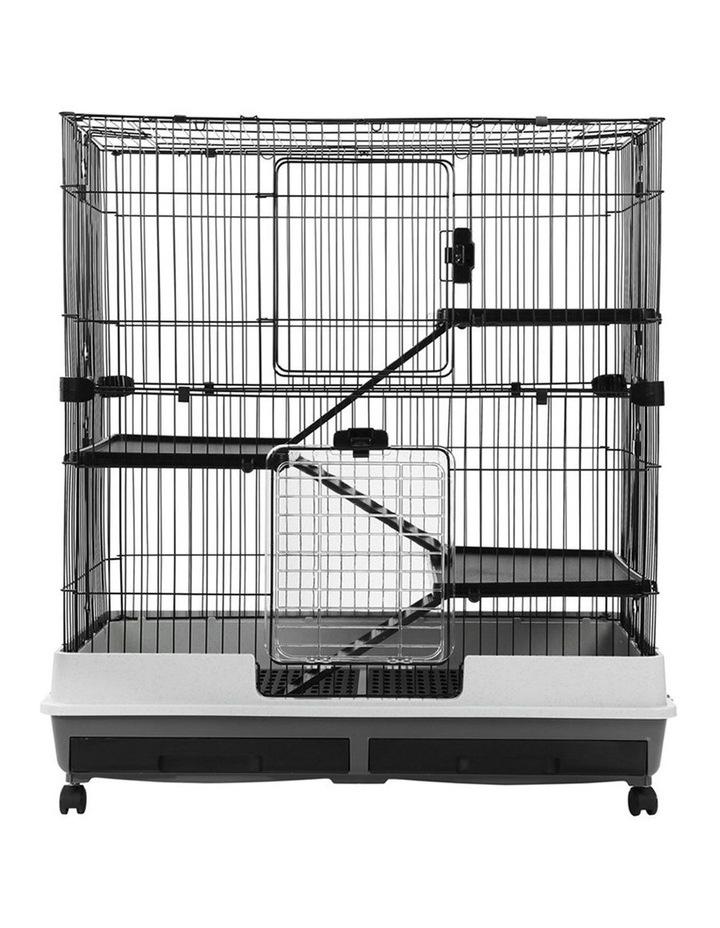 Rabbit/Guinea Pig 2 Tier Pet Cage On Wheel 104x100cm Indoor/Outdoor image 6