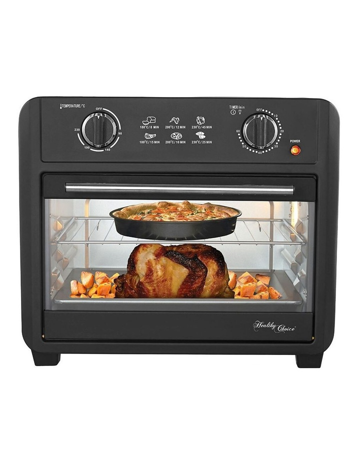 Healthy Choice Electric Convection Airfryer 23L 1700W Air Fryer Oven/Bake Black image 1