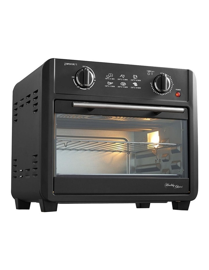 Healthy Choice Electric Convection Airfryer 23L 1700W Air Fryer Oven/Bake Black image 2