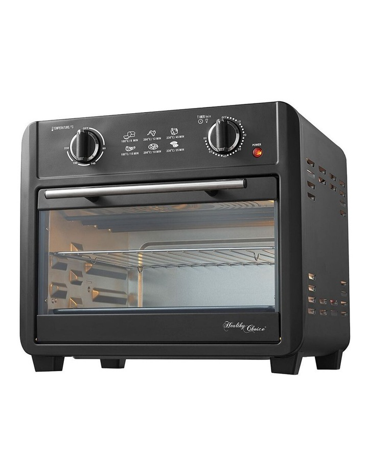 Healthy Choice Electric Convection Airfryer 23L 1700W Air Fryer Oven/Bake Black image 3