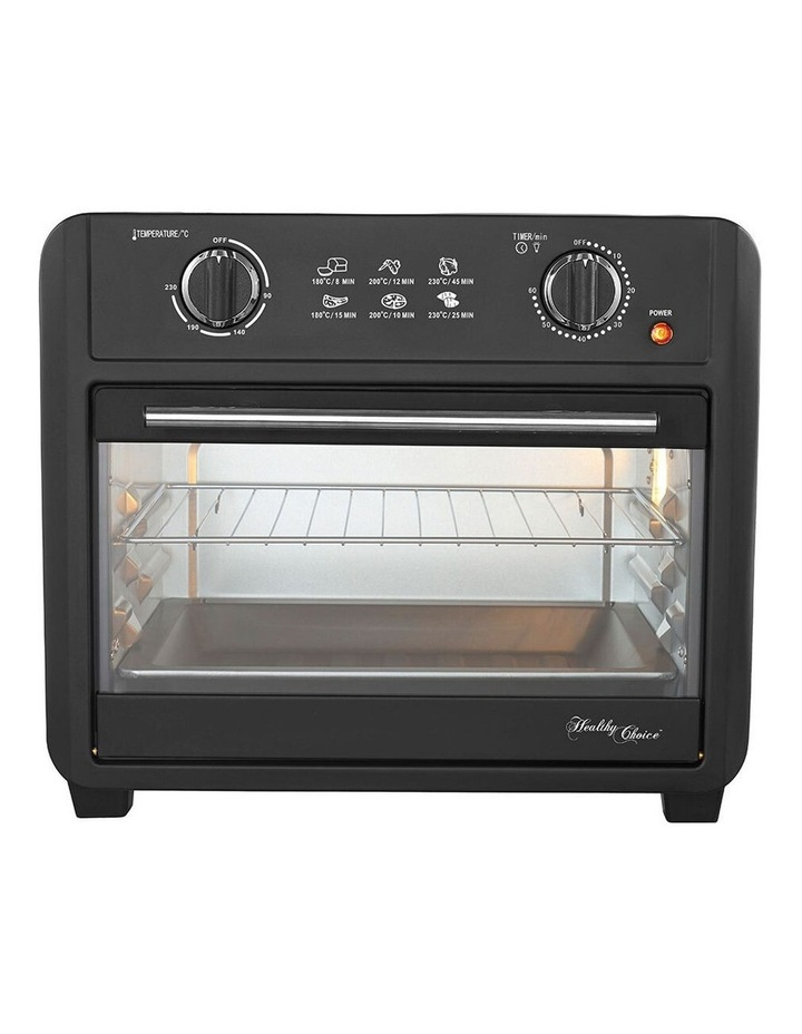 Healthy Choice Electric Convection Airfryer 23L 1700W Air Fryer Oven/Bake Black image 5