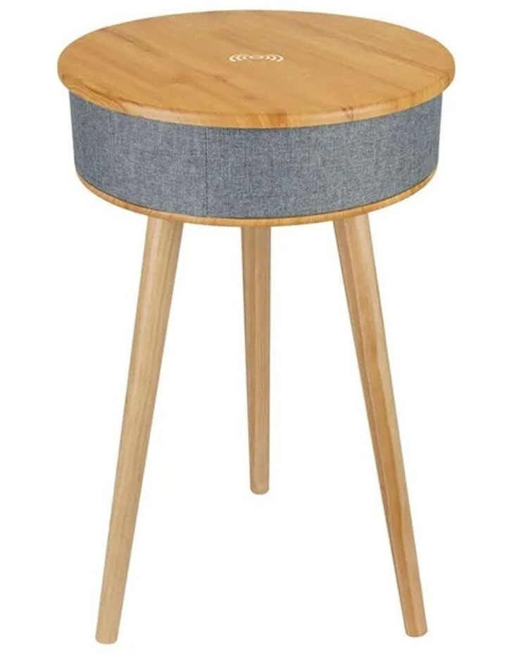 62cm Wood Smart Coffee Table w/ 8W Speaker/Wireless 10W Phone Charger image 1