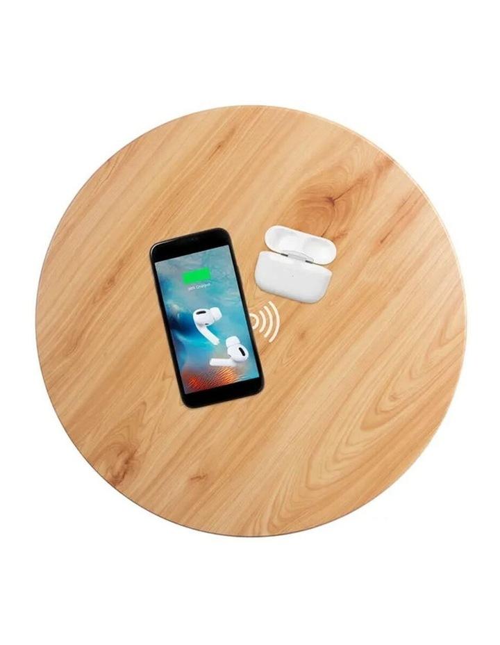 62cm Wood Smart Coffee Table w/ 8W Speaker/Wireless 10W Phone Charger image 6