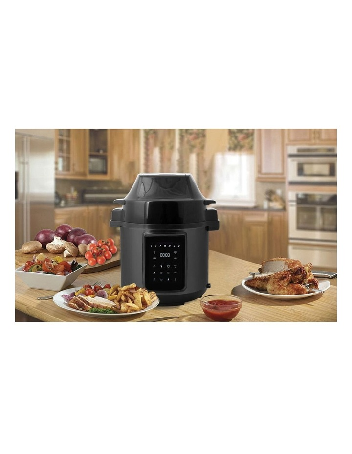 6L Air Fryer/Pressure Multi/Slow Cooker for Chips/Meat/Rice BLK image 3