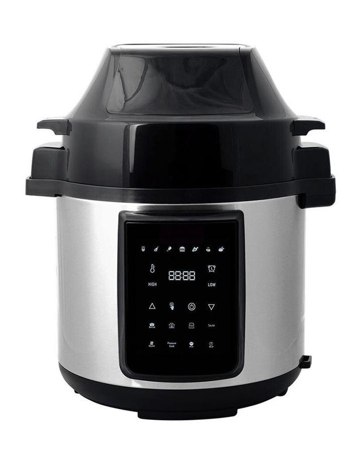 6L Air Fryer/Pressure Multi/Slow Cooker for Chips/Meat/Rice SLV image 1