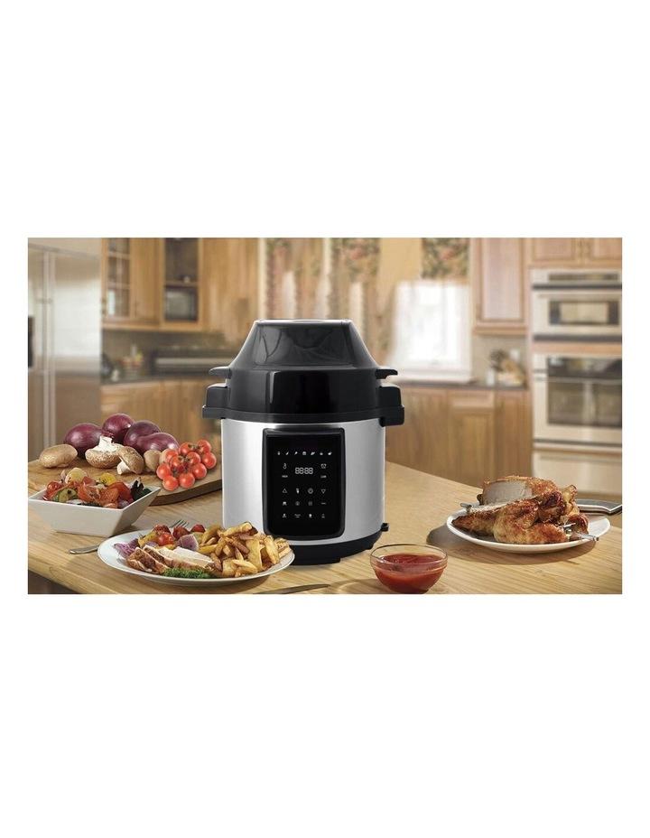 6L Air Fryer/Pressure Multi/Slow Cooker for Chips/Meat/Rice SLV image 3