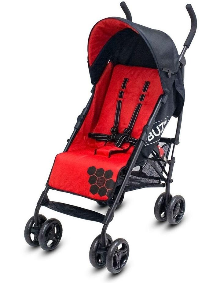 Buz 108cm Reclining/Foldable Stroller/Pram Baby/Infant 0m+ Raspberry Red image 1