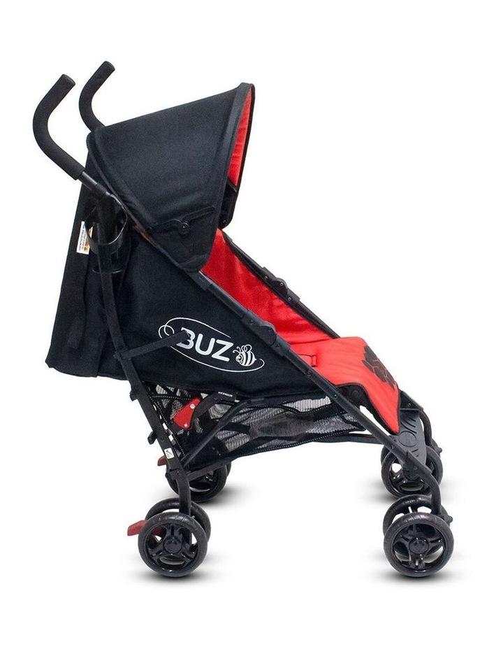 Buz 108cm Reclining/Foldable Stroller/Pram Baby/Infant 0m+ Raspberry Red image 2