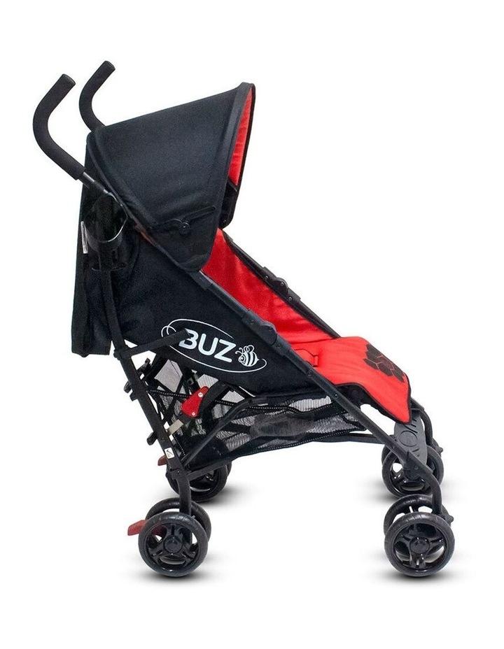 Buz 108cm Reclining/Foldable Stroller/Pram Baby/Infant 0m+ Raspberry Red image 3