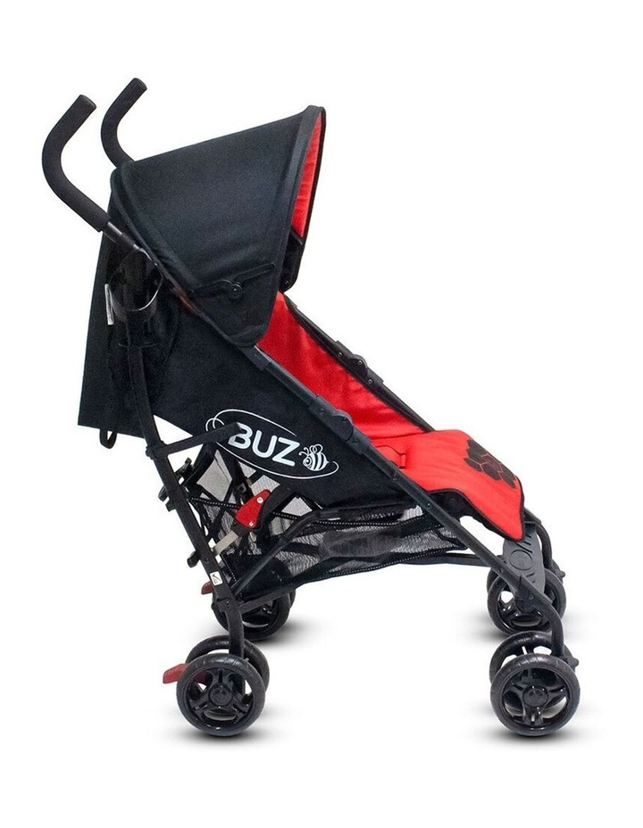 Buz 108cm Reclining/Foldable Stroller/Pram Baby/Infant 0m+ Raspberry Red image 4