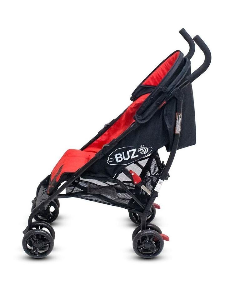 Buz 108cm Reclining/Foldable Stroller/Pram Baby/Infant 0m+ Raspberry Red image 7