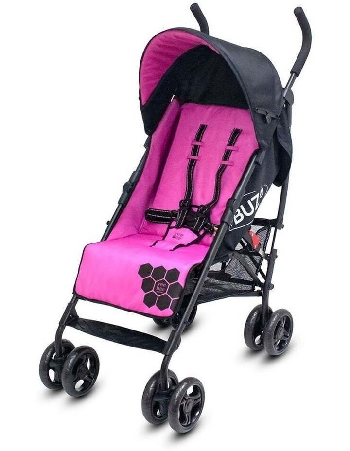 Buz 108cm Reclining/Foldable Stroller/Pram Baby/Infant 0m+ Rose Pink image 1