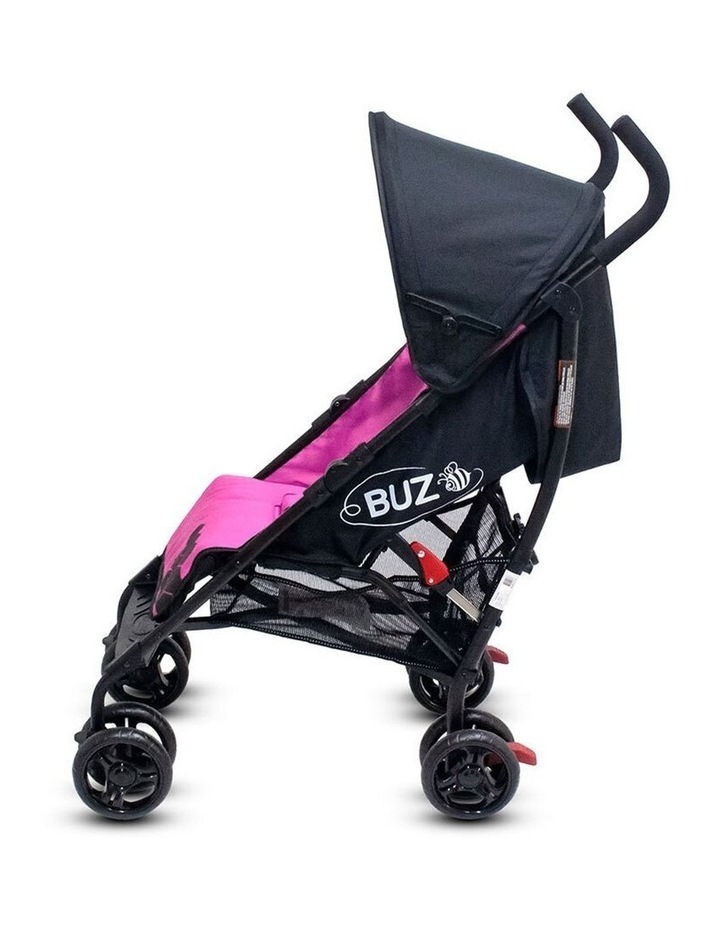 Buz 108cm Reclining/Foldable Stroller/Pram Baby/Infant 0m+ Rose Pink image 5