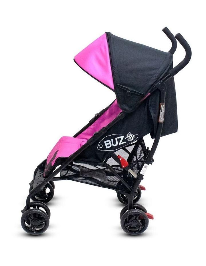 Buz 108cm Reclining/Foldable Stroller/Pram Baby/Infant 0m+ Rose Pink image 7