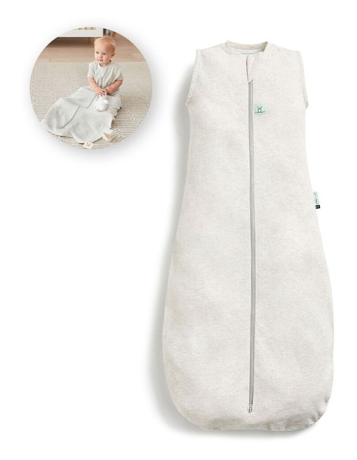 ErgoPouch Jersey Sleeping Bag Baby Organic Cotton TOG 1.0 Size 3-12m Grey Marle image 2