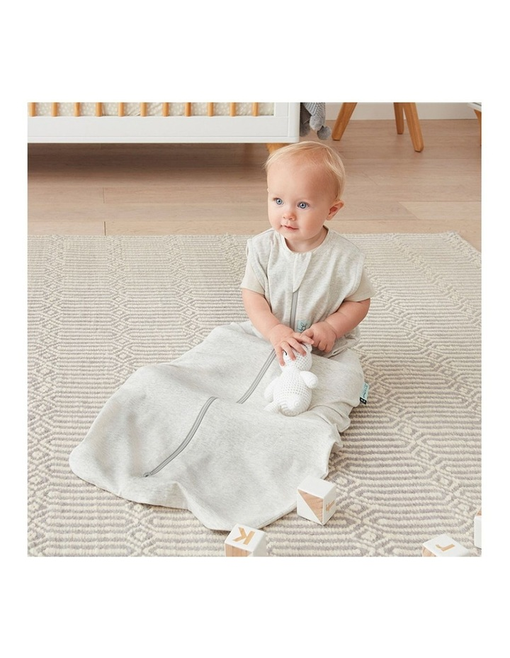 ErgoPouch Jersey Sleeping Bag Baby Organic Cotton TOG 1.0 Size 3-12m Grey Marle image 3