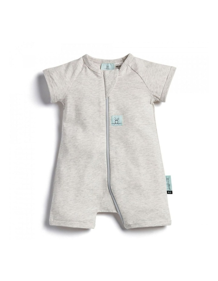 ErgoPouch Layers Short Sleeve Baby Organic Cotton TOG 0.2 Size 0-3m Grey Marle image 1