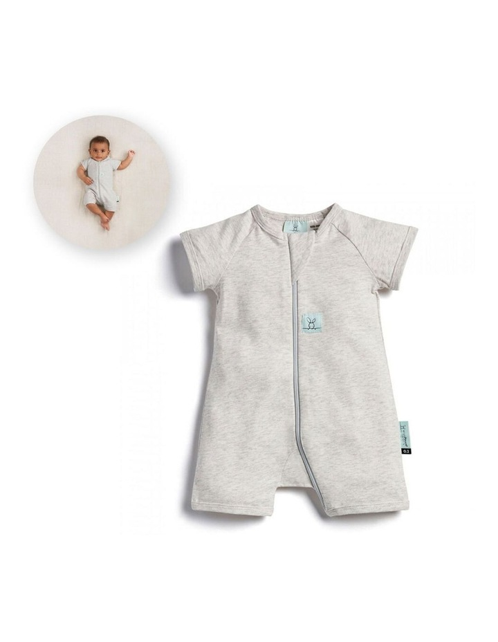 ErgoPouch Layers Short Sleeve Baby Organic Cotton TOG 0.2 Size 0-3m Grey Marle image 2