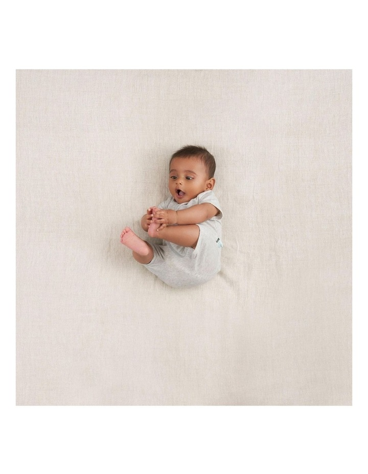 ErgoPouch Layers Short Sleeve Baby Organic Cotton TOG 0.2 Size 0-3m Grey Marle image 3