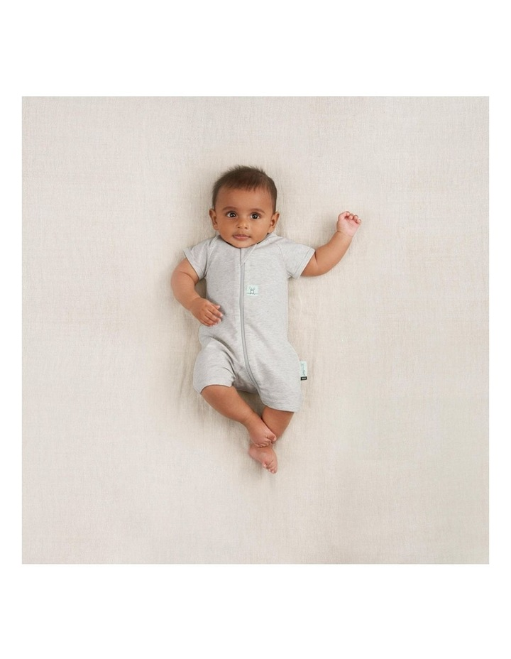ErgoPouch Layers Short Sleeve Baby Organic Cotton TOG 0.2 Size 0-3m Grey Marle image 4