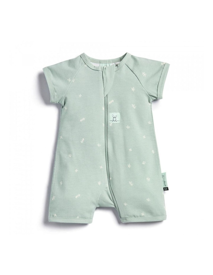 ErgoPouch Layers Short Sleeve Baby Organic Cotton TOG 0.2 Size 0-3 Months Sage image 1