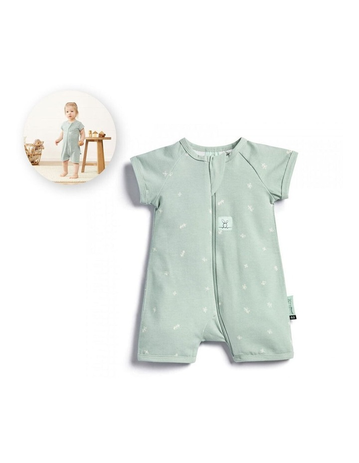 ErgoPouch Layers Short Sleeve Baby Organic Cotton TOG 0.2 Size 0-3 Months Sage image 2