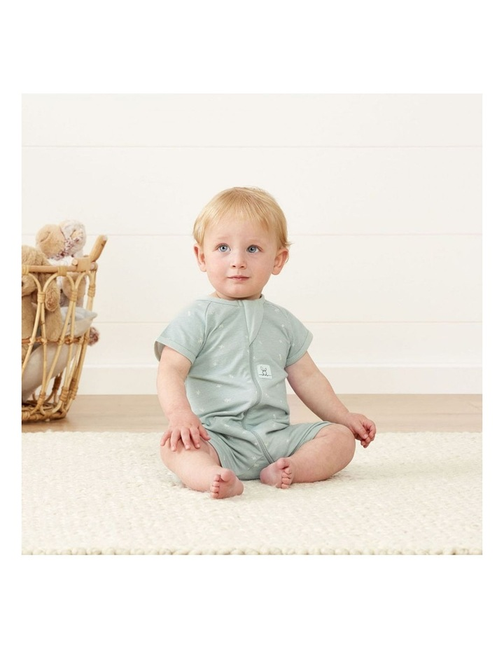 ErgoPouch Layers Short Sleeve Baby Organic Cotton TOG 0.2 Size 0-3 Months Sage image 4