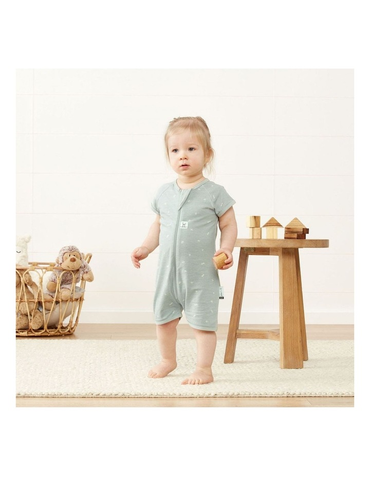 ErgoPouch Layers Short Sleeve Baby Organic Cotton TOG 0.2 Size 0-3 Months Sage image 6