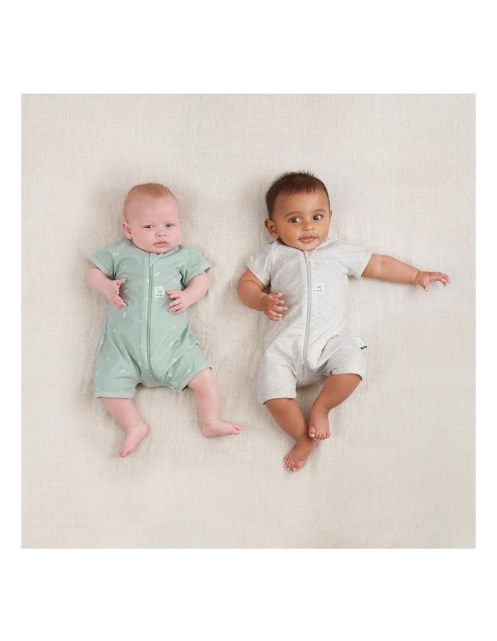 ErgoPouch Layers Short Sleeve Baby Organic Cotton TOG 0.2 Size 0-3 Months Sage image 7