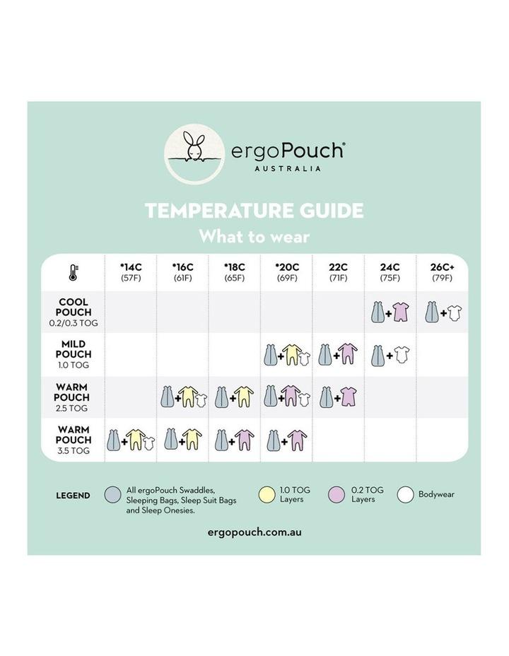 ErgoPouch Sheeting Sleeping Bag Baby Organic Cotton TOG 0.3 Size 8-24m Sage image 6