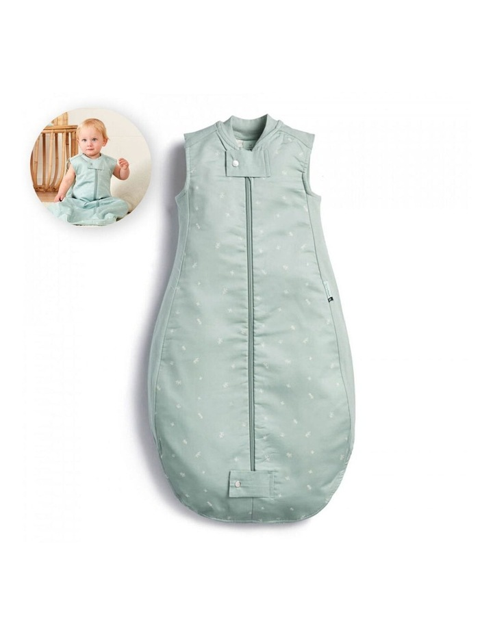 ErgoPouch Sheeting Sleeping Bag Baby Organic Cotton TOG 1.0 Size 2-4 Years Sage image 2
