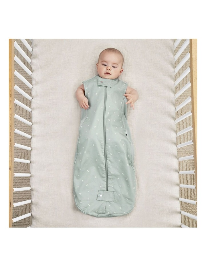 ErgoPouch Sheeting Sleeping Bag Baby Organic Cotton TOG 1.0 Size 2-4 Years Sage image 3