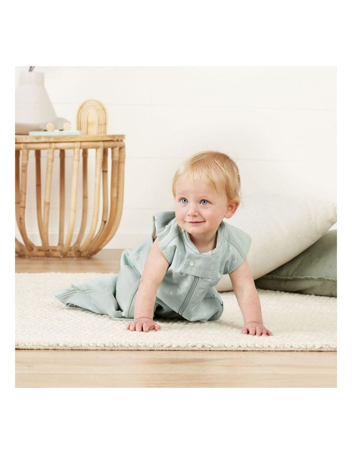 ErgoPouch Sheeting Sleeping Bag Baby Organic Cotton TOG 1.0 Size 2-4 Years Sage image 4