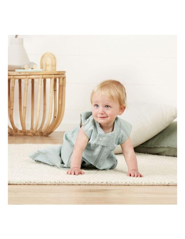 ErgoPouch Sheeting Sleeping Bag Baby Organic Cotton TOG 1.0 Size 8-24m Sage image 4
