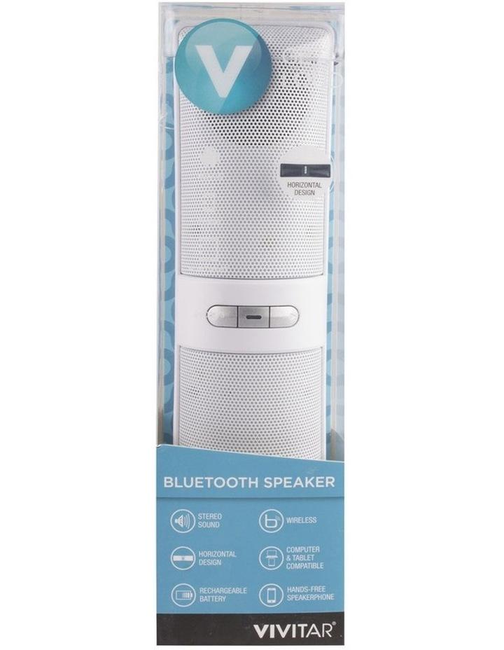 White Portable Stereo Bluetooth Wireless Speaker image 1